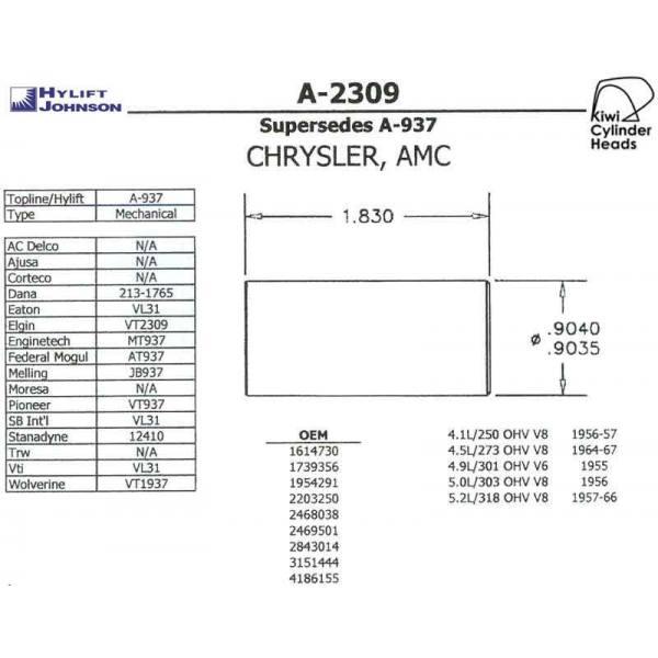 Chrysler Lifter Cam/Follower